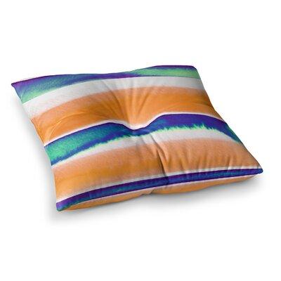 Summer Vibes by Ebi Emporium Floor Pillow Size: 26 x 26, Color: Orange/Blue