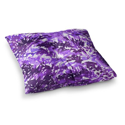 In the Meadow by Ebi Emporium Floor Pillow Size: 26 x 26, Color: Purple/White