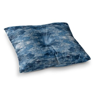 Tie Dye Helix by Ebi Emporium Floor Pillow Size: 26 x 26, Color: Blue/White