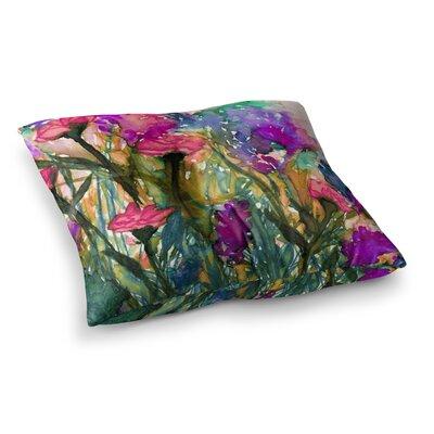 Floral Insurgence by Ebi Emporium Floor Pillow Size: 26 x 26, Color: Pink/Purple