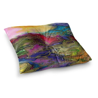 Bring on Bohemia by Ebi Emporium Floor Pillow Size: 23 x 23, Color: Teal/Yellow