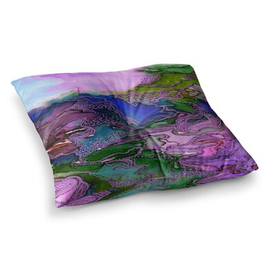 Bring on Bohemia by Ebi Emporium Floor Pillow Size: 23 x 23, Color: Blue/Purple