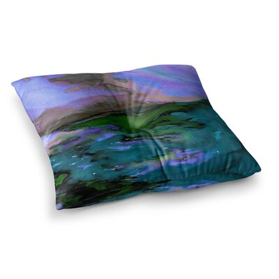Elevated by Ebi Emporium Floor Pillow Size: 23 x 23, Color: Teal/Blue/Purple