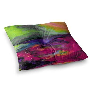 Elevated by Ebi Emporium Floor Pillow Size: 26 x 26, Color: Pink/Orange/Magenta