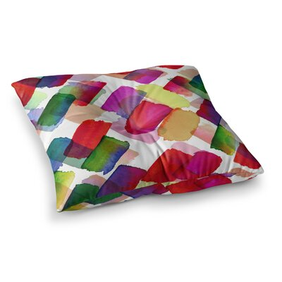 Strokes of Genius 2 Rainbow by Ebi Emporuim Floor Pillow Size: 26 x 26