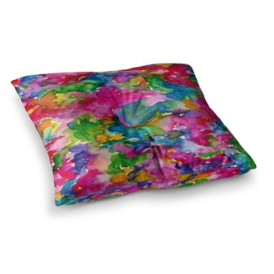Summer Swirls by Ebi Emporium Floor Pillow Size: 23 x 23