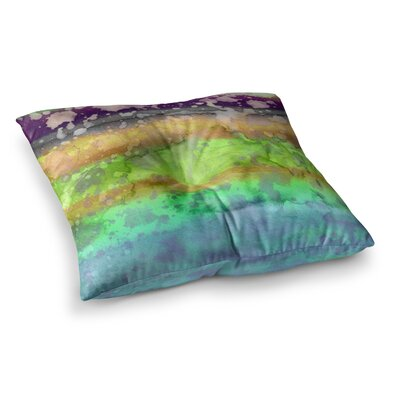California Surf by Ebi Emporium Floor Pillow Size: 26 x 26, Color: Teal/Purple
