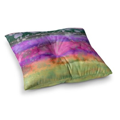 California Surf by Ebi Emporium Floor Pillow Size: 23 x 23, Color: Purple/Black