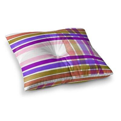 Plaid Stripes in Color 6 by Ebi Emporium Floor Pillow Size: 26 x 26