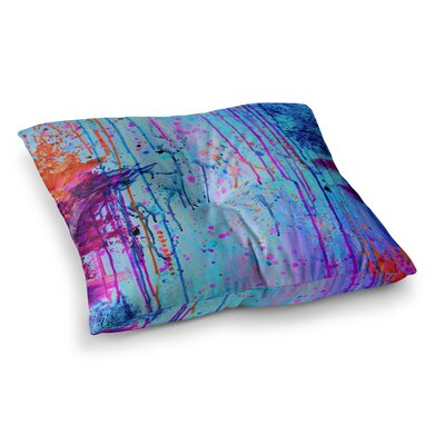 Happy Tears by Ebi Emporium Floor Pillow Size: 23 x 23, Color: Blue/Purple