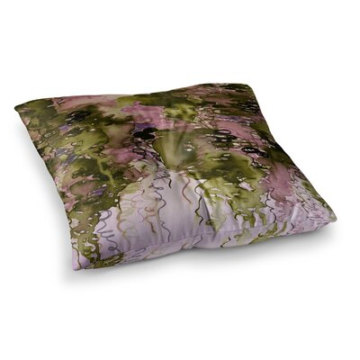 Beauty in the Rain by Ebi Emporium Floor Pillow Size: 23 x 23, Color: Pink/Green