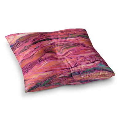 Marble Idea by Ebi Emporium Floor Pillow Size: 26 x 26, Color: Lavender/Pink
