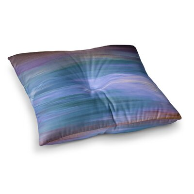 Resonance by Ebi Emporium Floor Pillow Size: 26 x 26, Color: Blue/Lavender