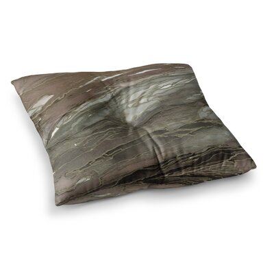 Agate Magic by Ebi Emporium Floor Pillow Size: 23 x 23, Color: Tan/Gold