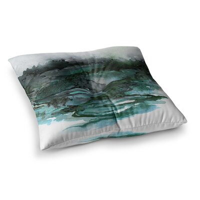 The Long Road by Ebi Emporium Floor Pillow Size: 23 x 23, Color: Teal/Gray