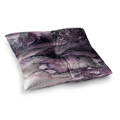 Never Leave the Path by Ebi Emporium Floor Pillow Size: 26 x 26, Color: Purple/Black