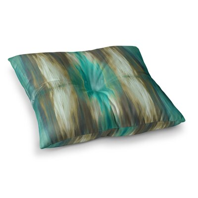 Butterfly Tribal by Ebi Emporium Floor Pillow Size: 26 x 26, Color: Teal