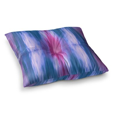 Butterfly Tribal by Ebi Emporium Floor Pillow Size: 26 x 26, Color: Magenta/Blue