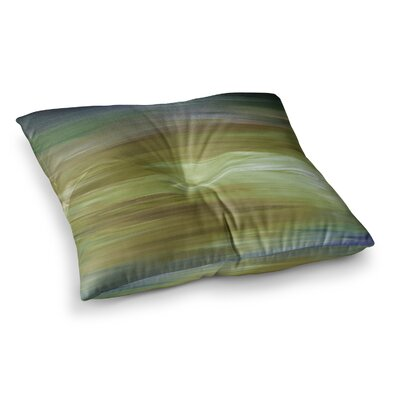 Resonance by Ebi Emporium Floor Pillow Size: 23 x 23, Color: Blue/Olive