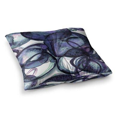 Worlds Collide 5 Watercolor by Ebi Emporium Floor Pillow Size: 26 x 26