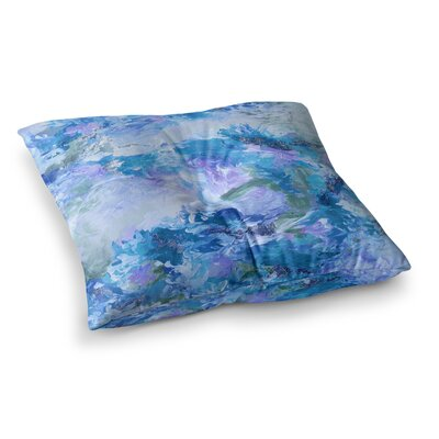 When We Were Mermaids by Ebi Emporium Floor Pillow Size: 26 x 26, Color: Blue/Lavender