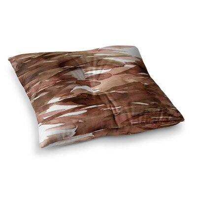 Fervor by Ebi Emporium Floor Pillow Size: 26 x 26, Color: Brown/Tan