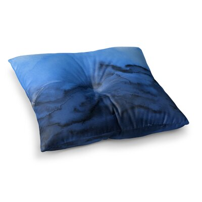 Winter Waves by Ebi Emporium Floor Pillow Size: 26 x 26, Color: Blue/Black