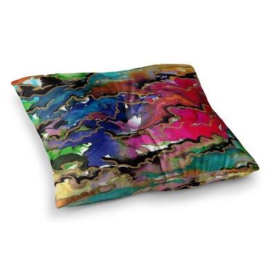 Summer Swells Watercolor by Ebi Emporium Floor Pillow Size: 23 x 23