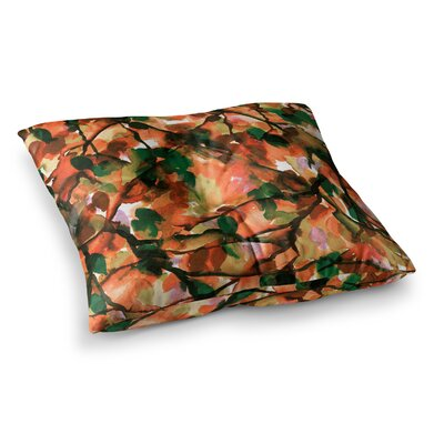 By Any Other Name by Ebi Emporium Floor Pillow Size: 26 x 26, Color: Orange/Green