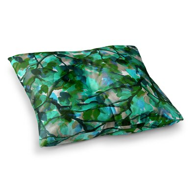 By Any Other Name by Ebi Emporium Floor Pillow Size: 23 x 23, Color: Teal/Green