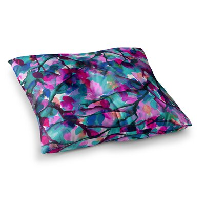 By Any Other Name by Ebi Emporium Floor Pillow Size: 26 x 26, Color: Teal/Magenta