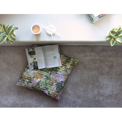 Dust Garden Mixed Media by Ebi Emporium Floor Pillow Size: 26 x 26