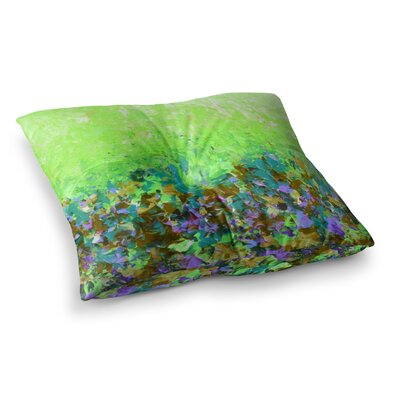 Natures Living Room by Ebi Emporium Floor Pillow Size: 26 x 26, Color: Green