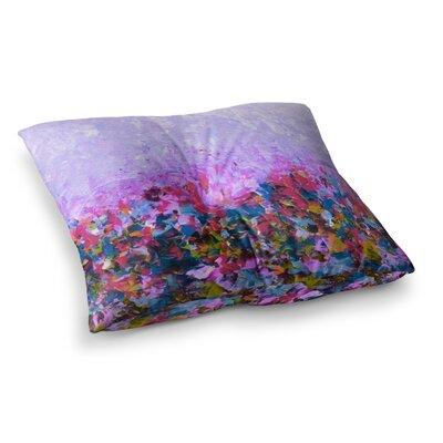 Natures Living Room by Ebi Emporium Floor Pillow Size: 23 x 23, Color: Purple