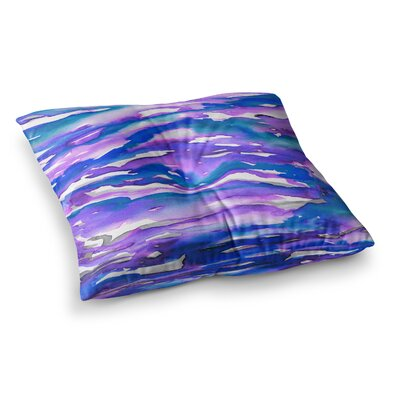 Flutter by Ebi Emporium Floor Pillow Size: 26 x 26, Color: Blue/Purple