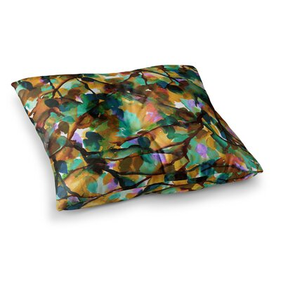 By Any Other Name by Ebi Emporium Floor Pillow Size: 26 x 26, Color: Teal/Teal