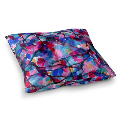 By Any Other Name by Ebi Emporium Floor Pillow Size: 26 x 26, Color: Red/Blue/Pink