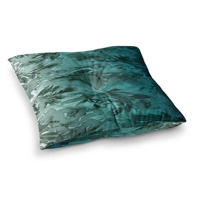 Forever Flowers by Ebi Emporium Floor Pillow Size: 26 x 26, Color: Teal/Gray