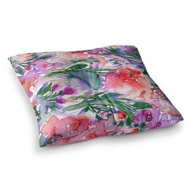 Floral Destiny by Ebi Emporium Floor Pillow Size: 26 x 26, Color: Red/Green/Purple