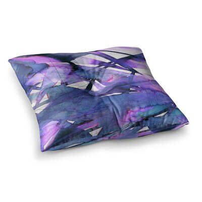 Guiding Lights by Ebi Emporium Floor Pillow Size: 23 x 23, Color: Purple