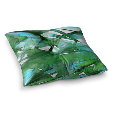 Guiding Lights by Ebi Emporium Floor Pillow Size: 26 x 26, Color: Teal/Green