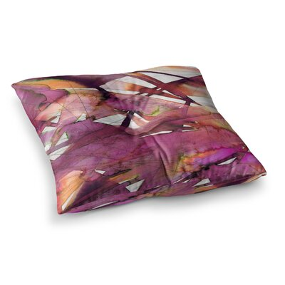 Guiding Lights by Ebi Emporium Floor Pillow Size: 26 x 26, Color: Magenta/Coral