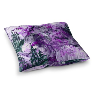 Anything Worth Having, Mixed Media by Ebi Emporium Floor Pillow Size: 26 x 26, Color: Green/Purple