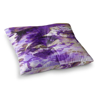 Color Blots by Ebi Emporium Floor Pillow Size: 26 x 26, Color: Purple/White