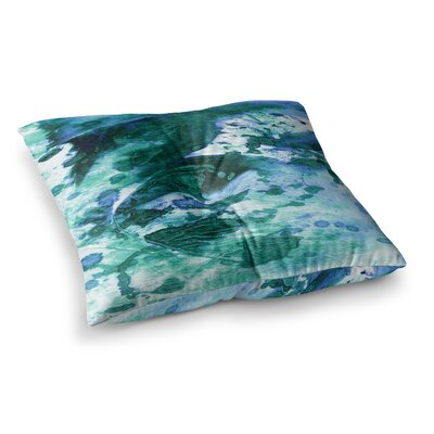 Color Blots by Ebi Emporium Floor Pillow Size: 26 x 26, Color: Green/Blue