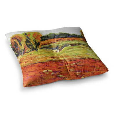 Summer Breeze Foliage by Jeff Ferst Floor Pillow Size: 23 x 23