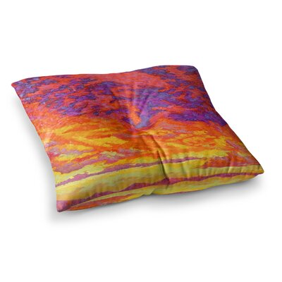 View From the Foothills by Jeff Ferst Floor Pillow Size: 23 x 23