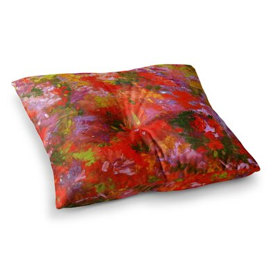 Summer Garden Floral Painting by Jeff Ferst Floor Pillow Size: 23 x 23