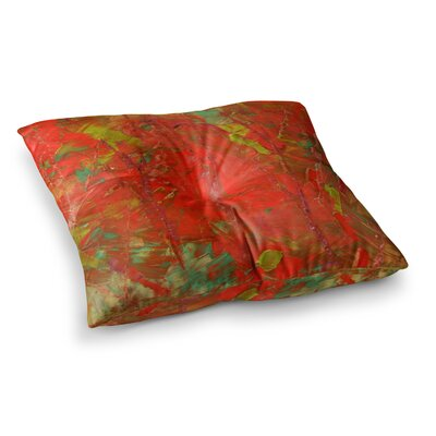Crimson Forest by Jeff Ferst Floor Pillow Size: 26 x 26