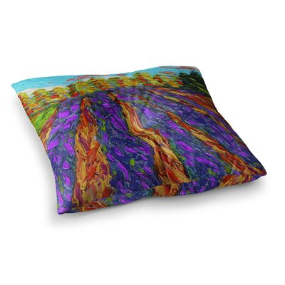 Flowers in the Field by Jeff Ferst Floor Pillow Size: 23 x 23